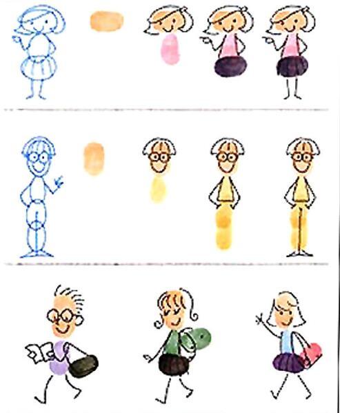 小人物-手指畫圖集