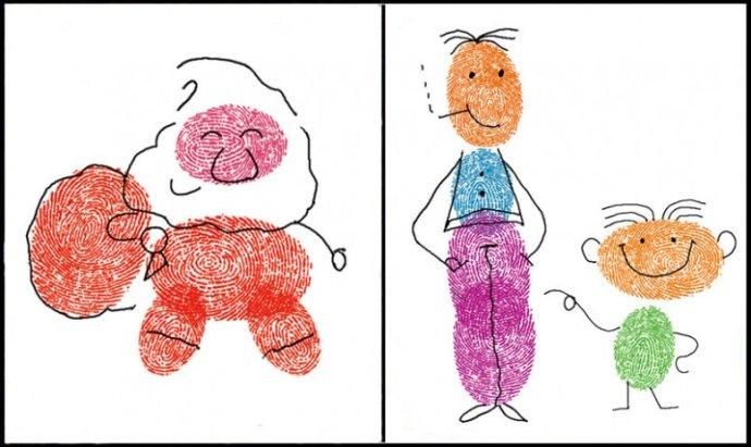 小人物-手指画图集2