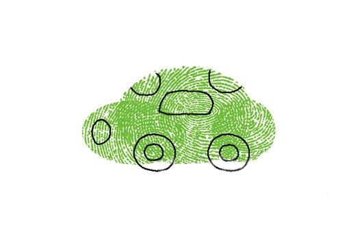 小汽车-手指画图集1