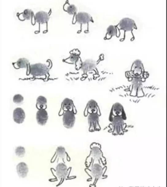 小狗-手指画图集3