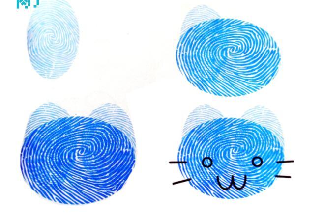 小猫-手指画图集5