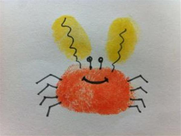 小螃蟹-手指畫圖集