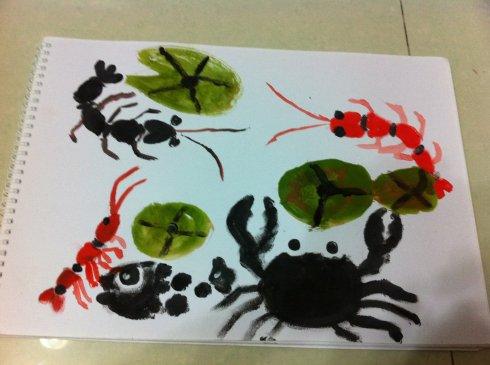 小螃蟹-手指画图集2
