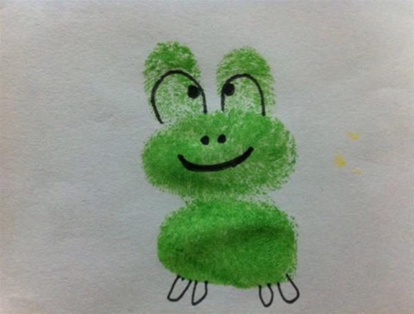 小青蛙-手指画图集