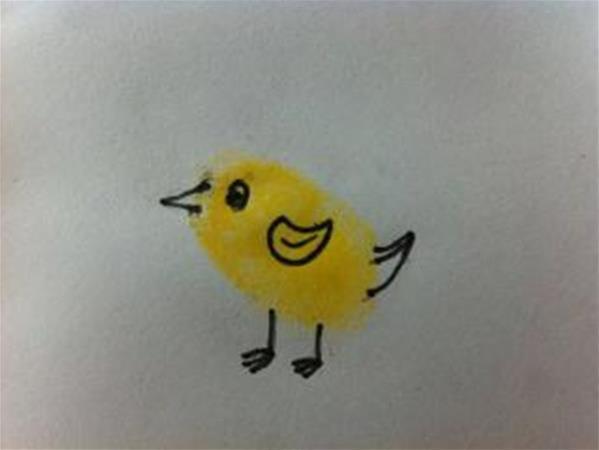 小鸟-手指画图集