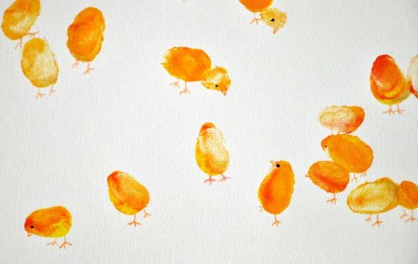 小鸡-手指画图集3