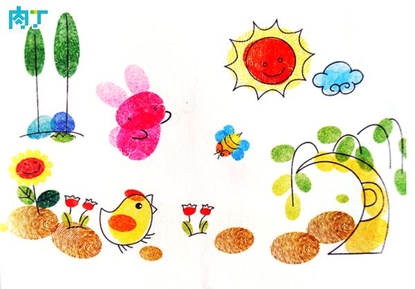 春天-手指画图集