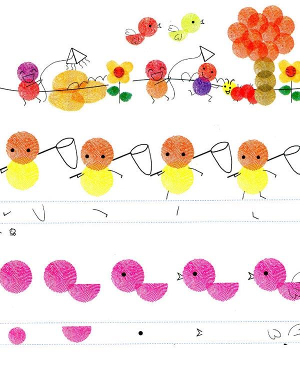 春天-手指画图集2