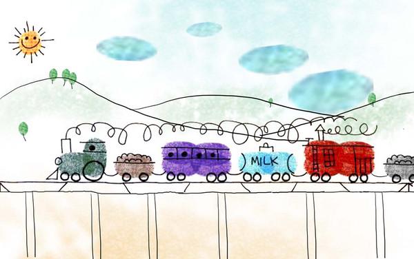 火车-手指画图集