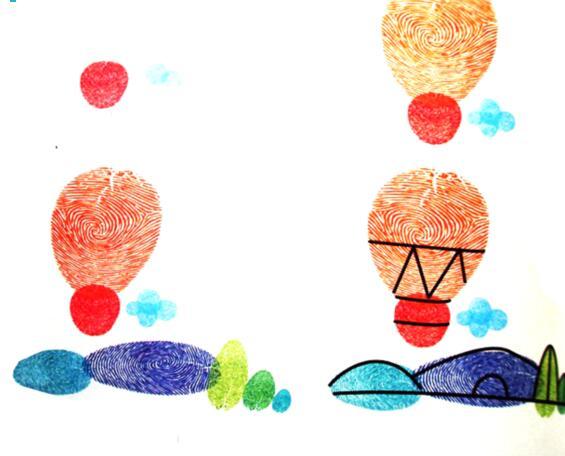 热气球-手指画图集