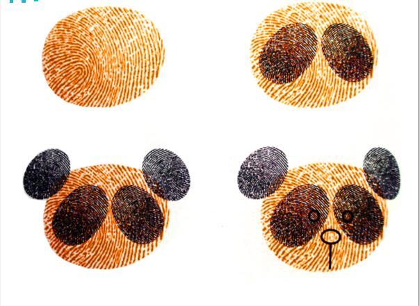 熊猫-手指画图集