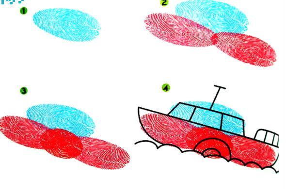 船-手指画图集图片
