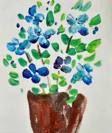 花儿和瓢虫-手指画图集2