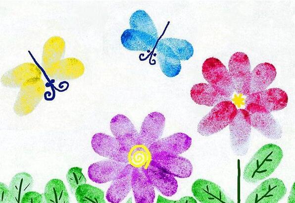 花儿和瓢虫-手指画图集4