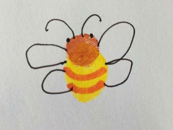 蜜蜂-手指画图集