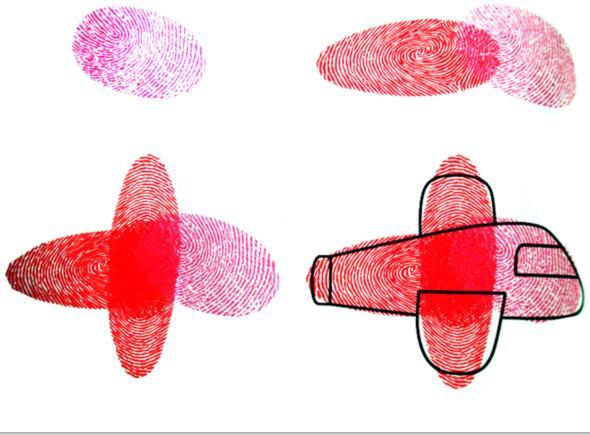 飞机-手指画图集