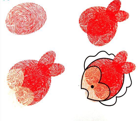 鱼-手指画图集