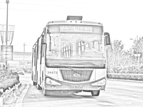 公交车-素描图集