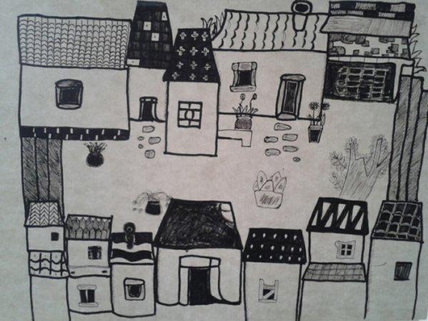 农家小院-素描图集
