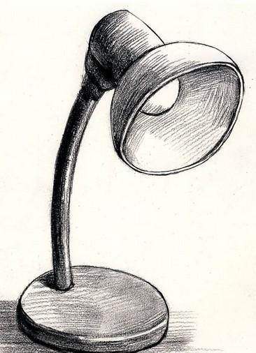 台灯-素描图集图片_儿童素描_少儿图库_中国儿童资源网