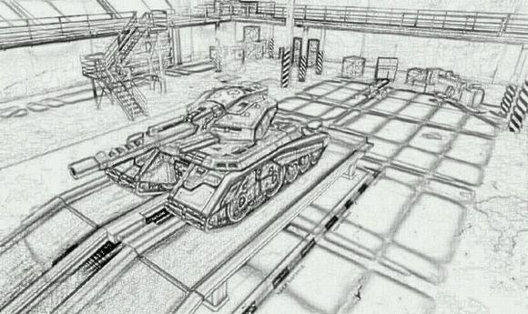 坦克-素描图集