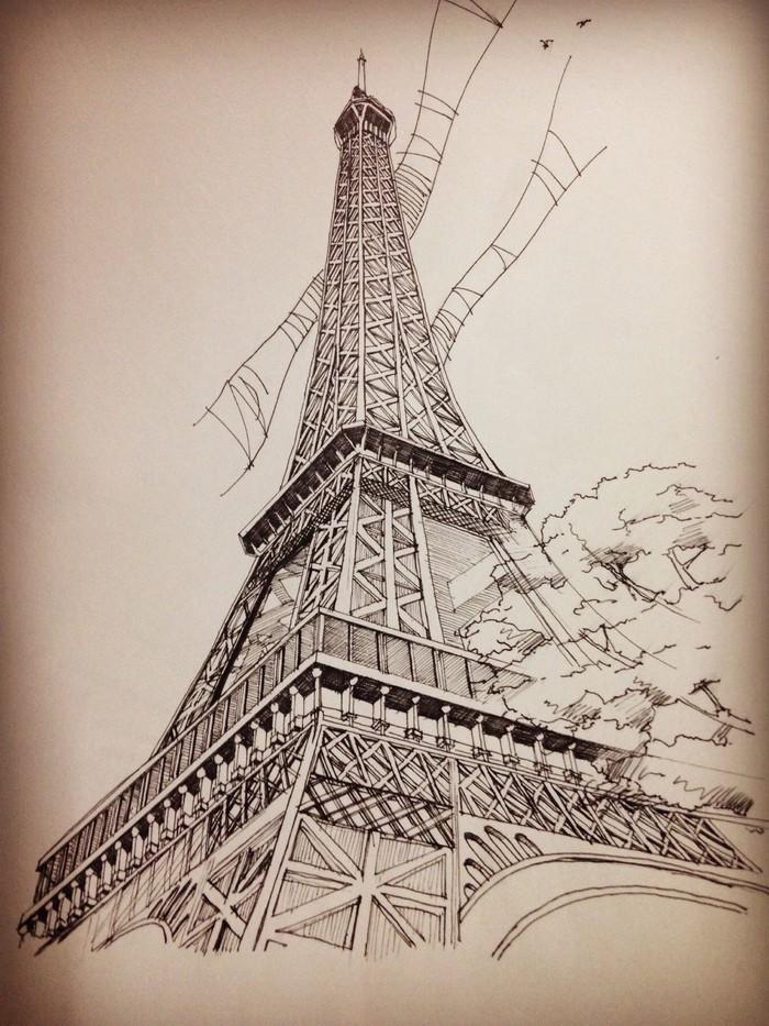埃菲尔铁塔-素描图集