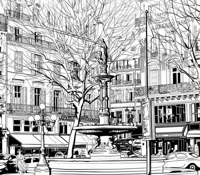 城市-素描图集