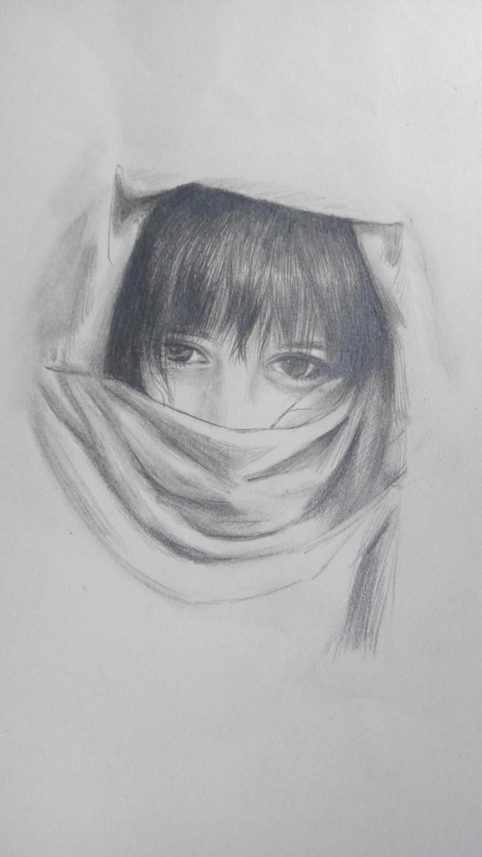 小女孩-素描图集