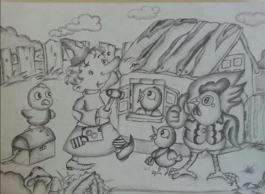 小木偶-素描图集