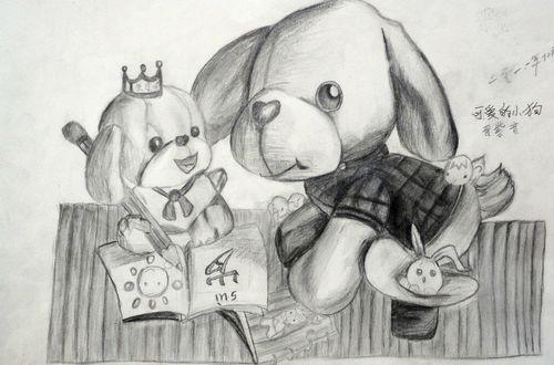 小狗-素描图集