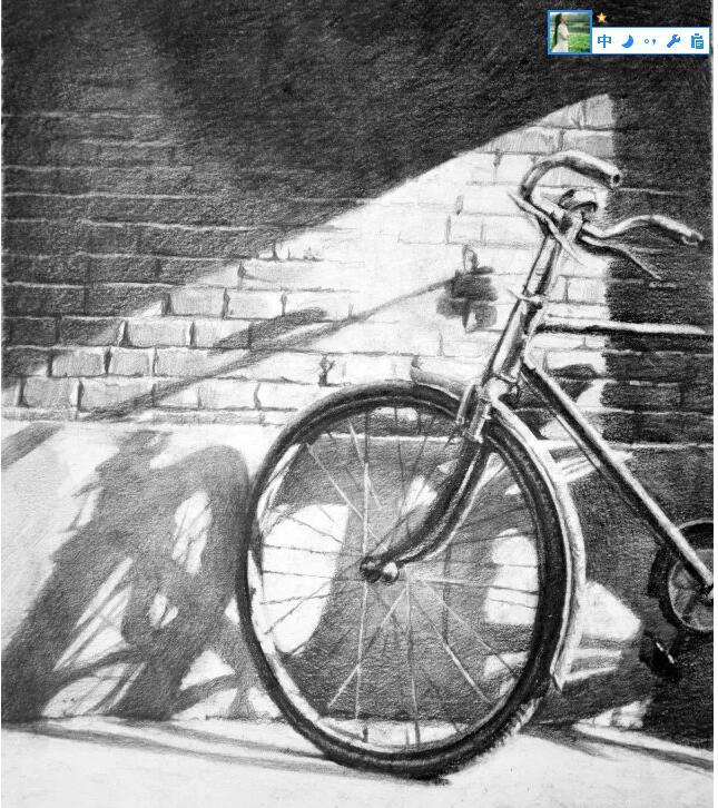 自行车-素描图集图片