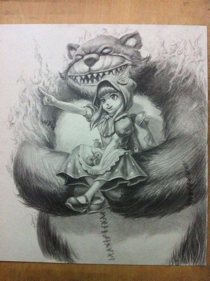 素描lol人物的武器图_英雄联盟-素描图集图片_儿童素描_少儿图库_中国儿童资源网