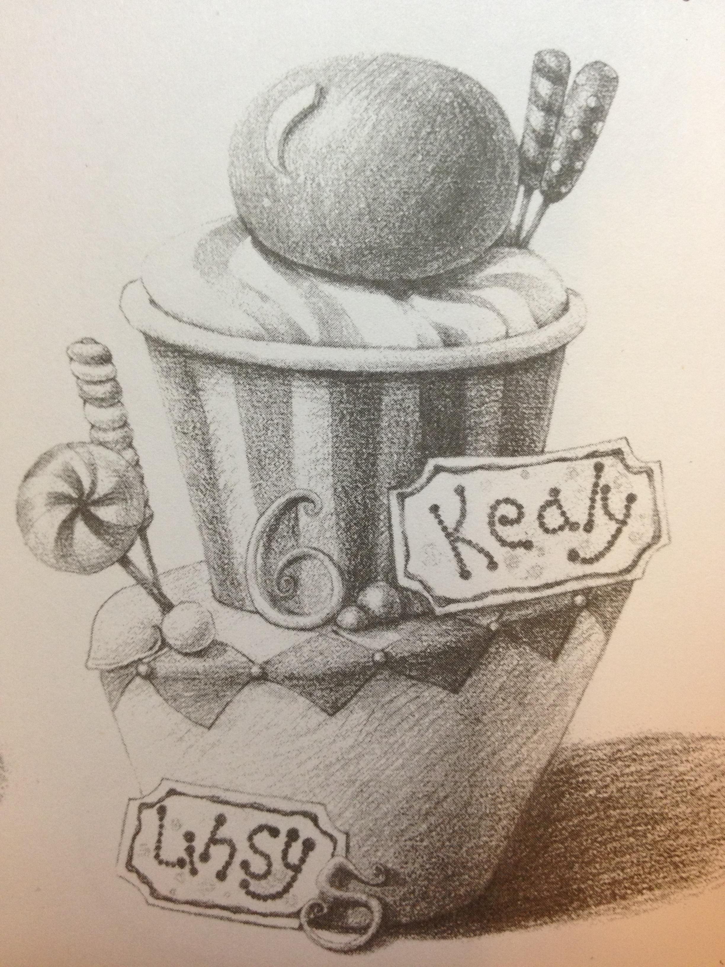蛋糕-素描图集