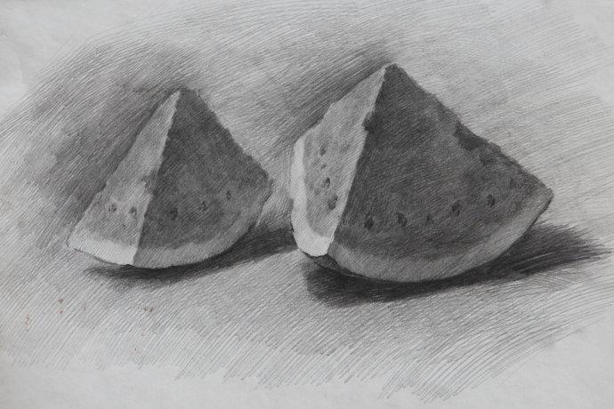 西瓜-素描图集