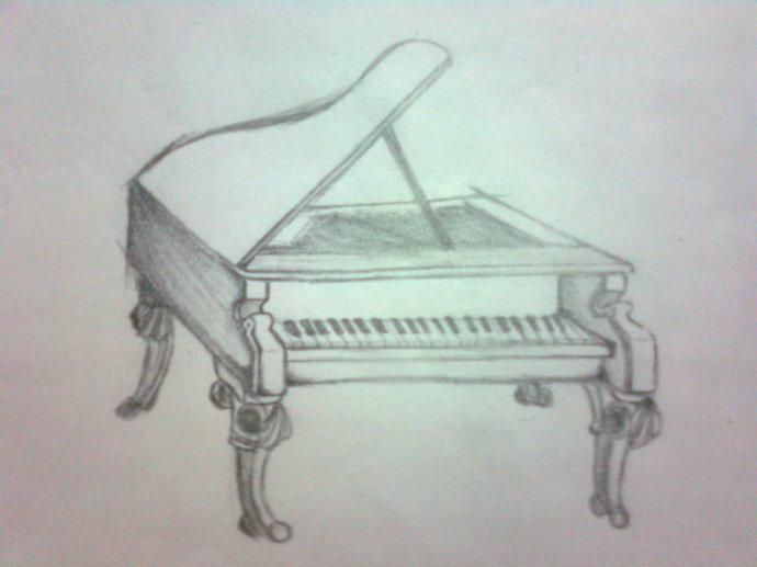 钢琴-素描图集