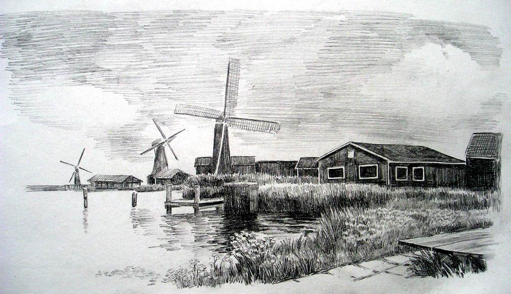 风景画步骤铅笔画
