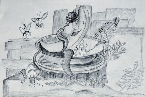 香蕉-素描图集