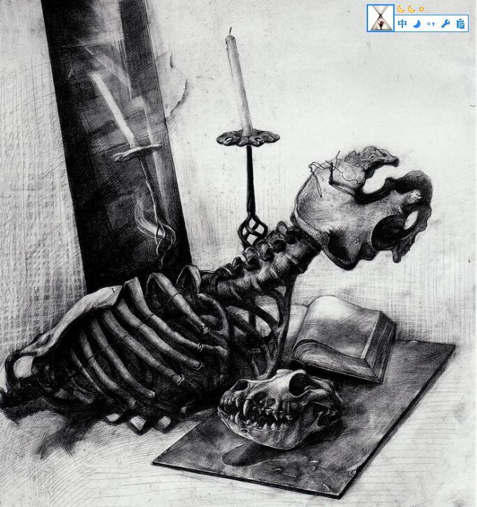 骷髅-素描图集