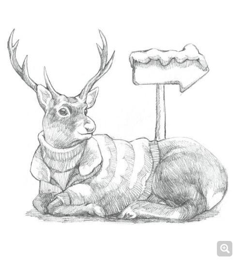 鹿-素描图集