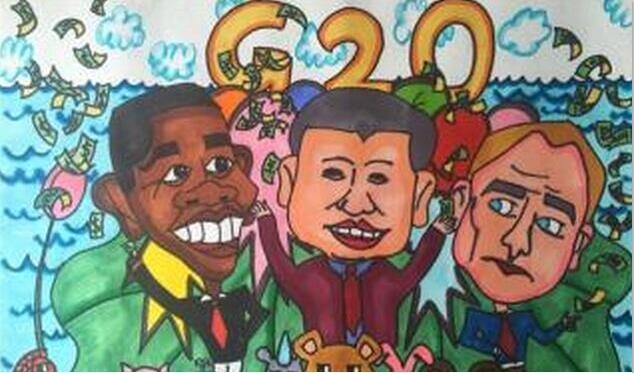 g20峰会-水彩画图集
