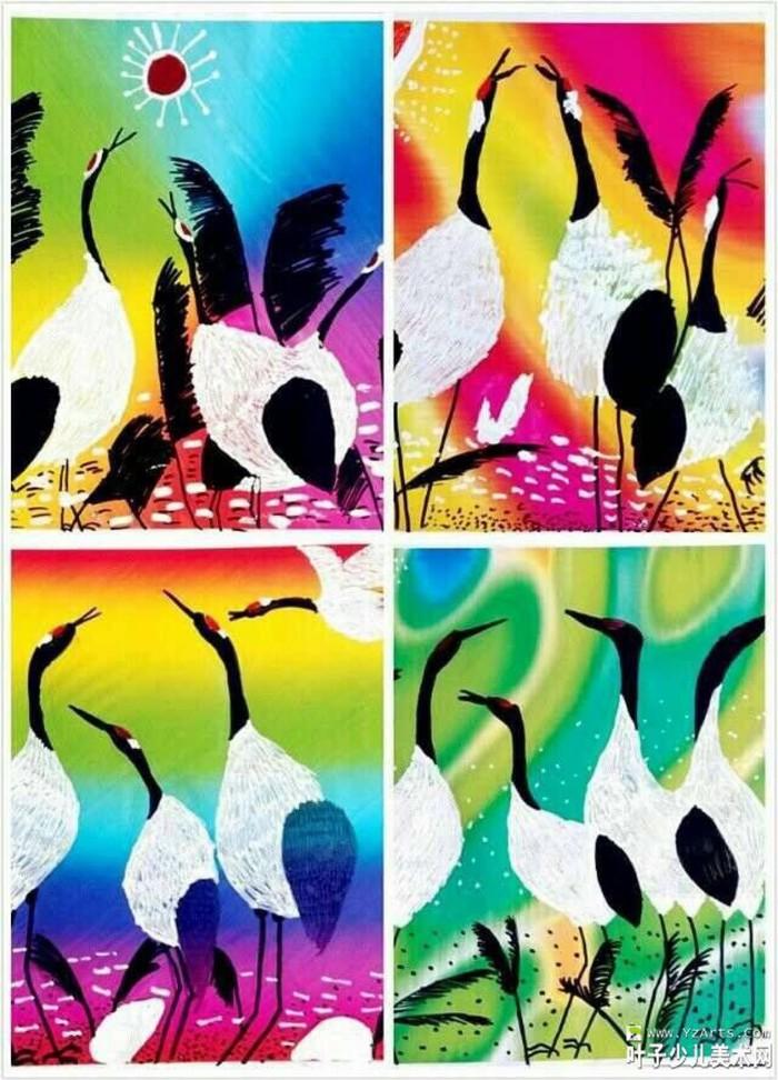 丹顶鹤-水彩画图集