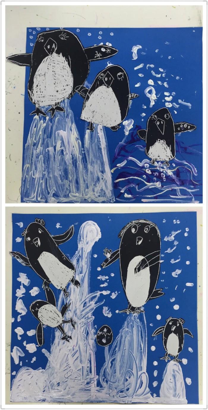 企鹅-水彩画图集