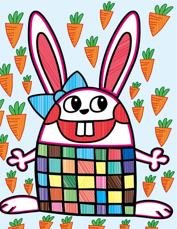 兔子-水彩画图集2