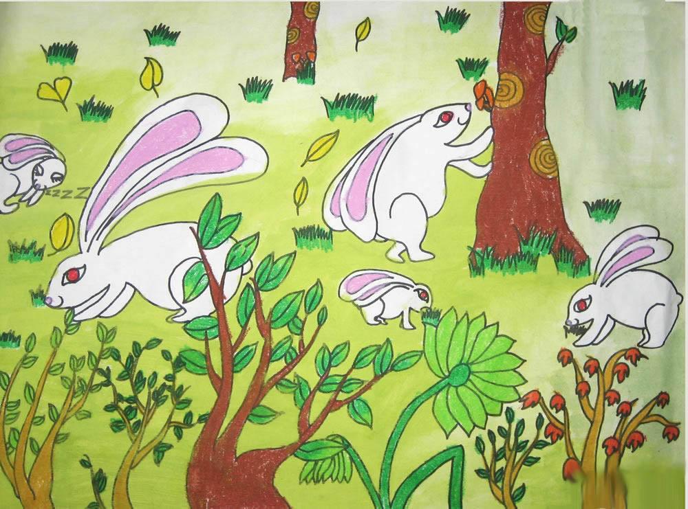 兔子-水彩画图集9