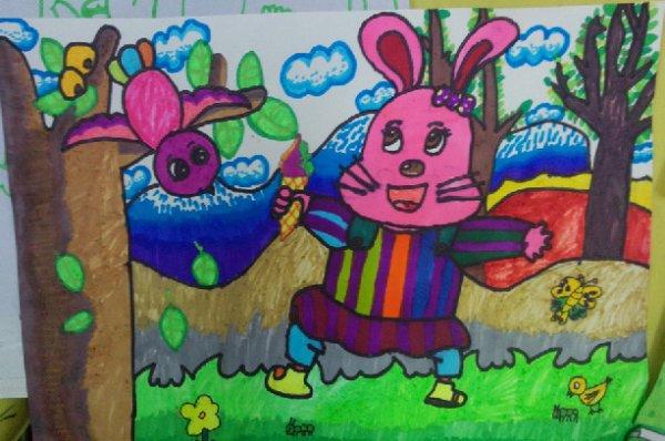 兔子-水彩画图集13