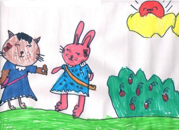 兔子-水彩画图集16