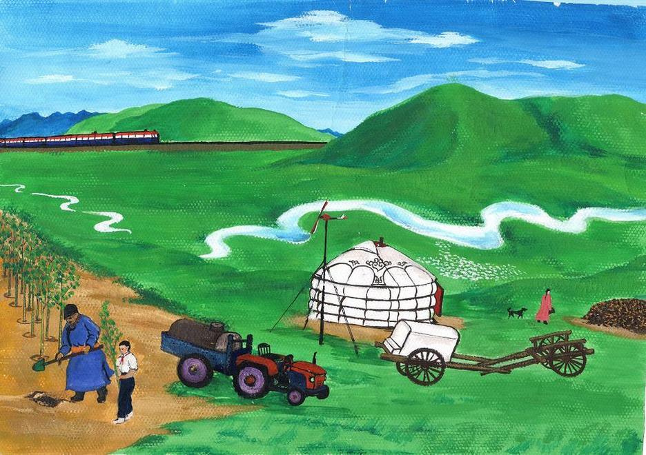 内蒙古-水彩画图集