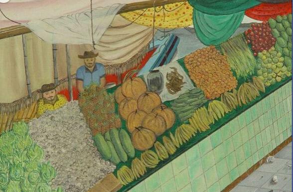 农贸市场-水彩画图集