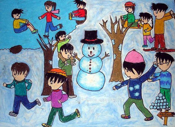 冬天-水彩画图集