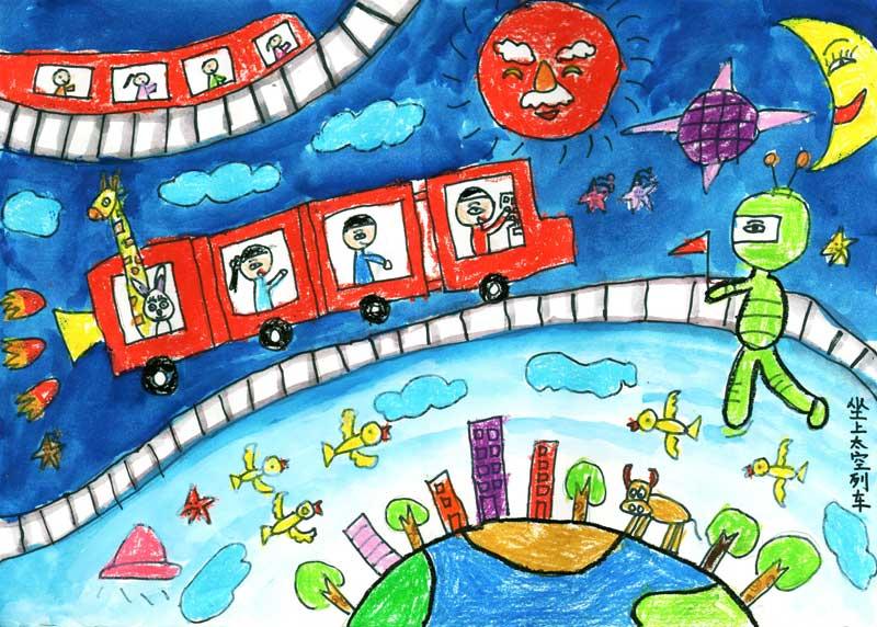 列车-水彩画图集